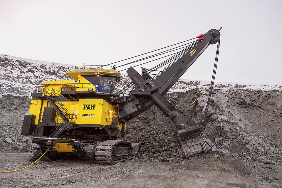 Hardened steel is a base element of mining industry fabrication