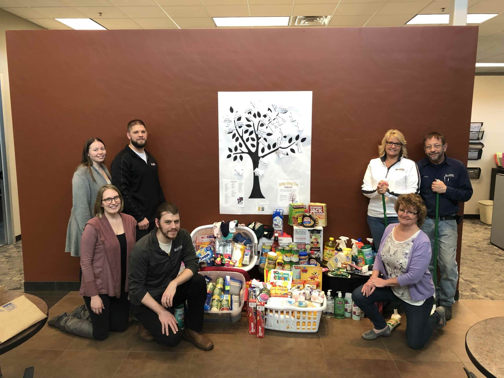 Badger Sheet Metal Works giving tree benefits Freedom House
